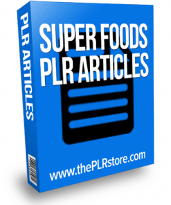 super foods plr articles