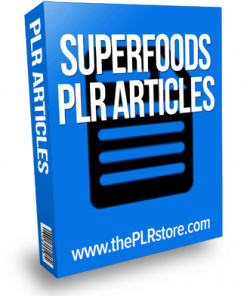superfoods plr articles