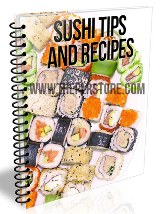 sushi tips and recipes plr report sushi tips and recipes plr report Sushi Tips and Recipes PLR Report and Listbuilding sushi plr report ebook listbuilding cover 1