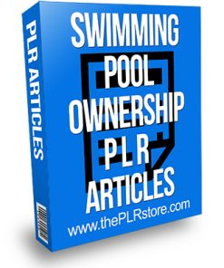 Swimming Pool Ownership PLR Articles
