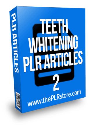 teeth whitening plr articles 2