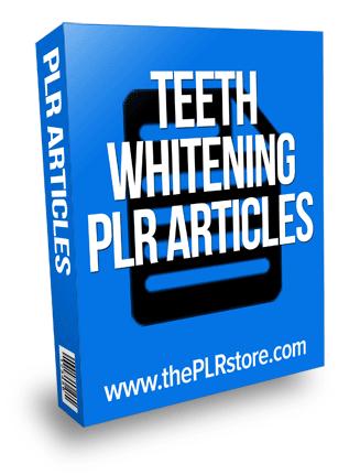 teeth whitening plr articles