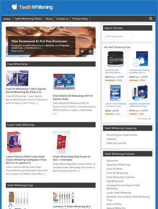 Teeth Whitening PLR Website and Amazon Store