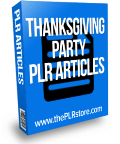 thanksgiving party plr articles