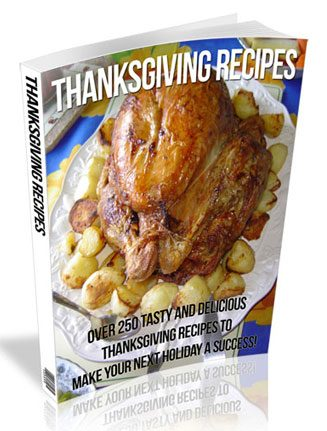 thanksgiving recipes plr ebook
