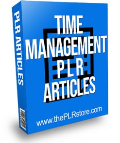 Time Management PLR Articles