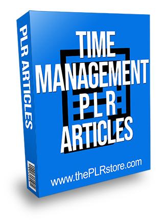 Time Management PLR Articles