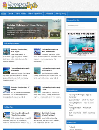 Tourism PLR Website with Private Label Rights