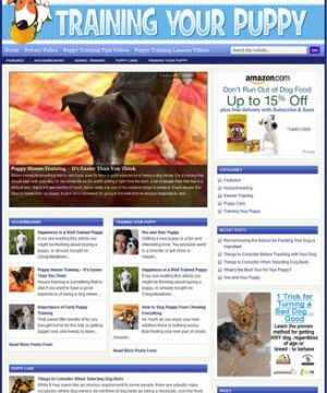 training your puppy plr website