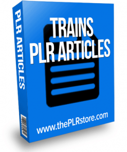 trains plr articles