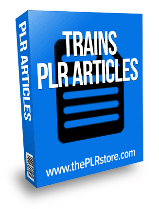 trains plr articles