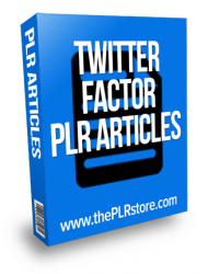 twitter factor plr articles twitter factor plr articles The Twitter Factor PLR Articles twitter factor plr articles 190x250