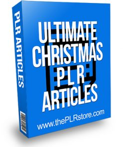 Ultimate Christmas PLR Articles