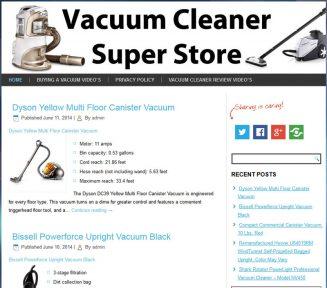 Vacuum Cleaner PLR Amazon Turnkey Store Website vacuum cleaner plr amazon turnkey store cover 327x288