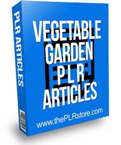 Vegetable Garden PLR Articles