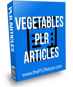 Vegetables PLR Articles