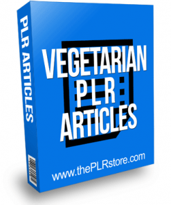 Vegetarian PLR Articles