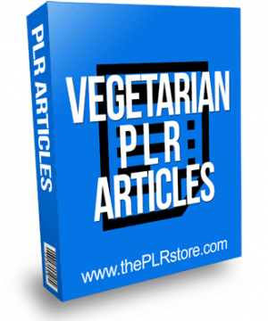 Vegetarian PLR Articles