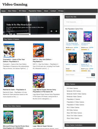 Video Games PLR Website Amazon Store