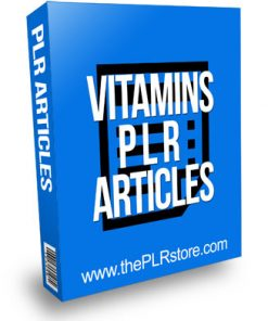 Vitamins PLR Articles