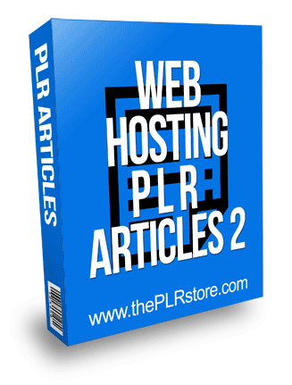 Web Hosting PLR Articles 2