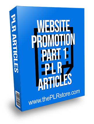 Website Promotion Part 1 PLR Articles