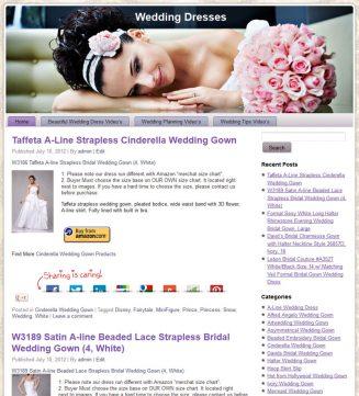 Wedding Dress PLR Amazon Pre-Loaded Store Website wedding dresses plr amazon store website main 327x361