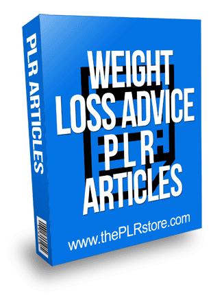 Weight Loss Advice PLR Articles