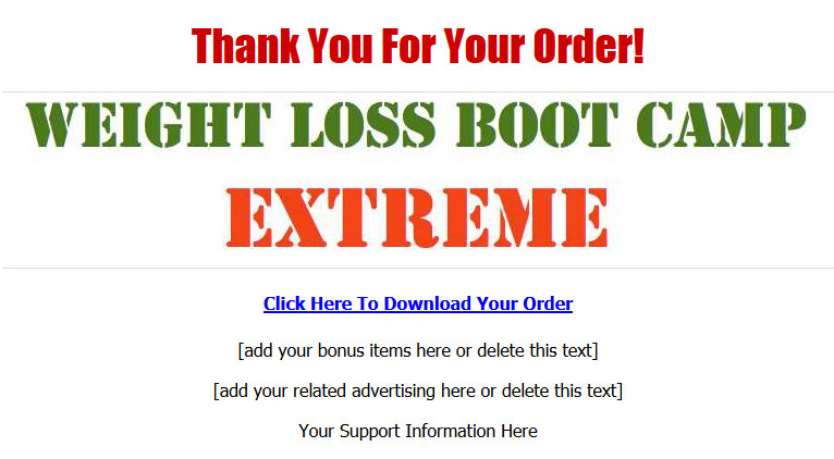 Weight Loss Boot Camp MRR Ebook Package
