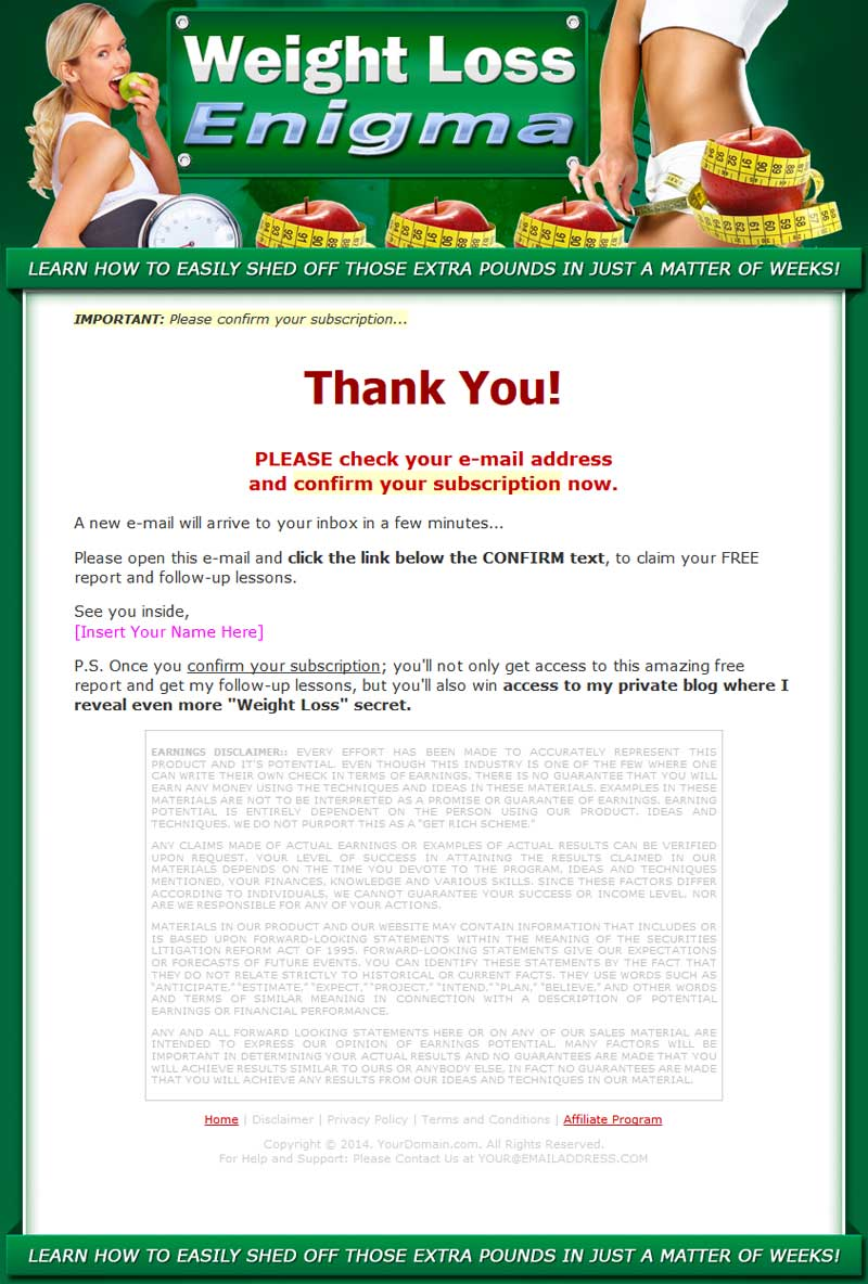 Weight Loss Enigma MRR Ebook Package