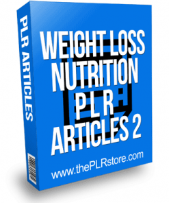 Weight Loss Nutrition PLR Articles 2
