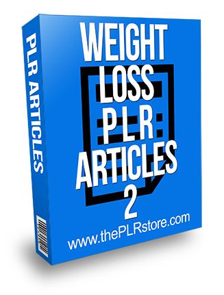 Weight Loss PLR Articles 2