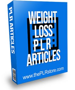 Weight Loss PLR Articles 25