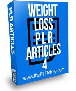 Weight Loss PLR Articles 4