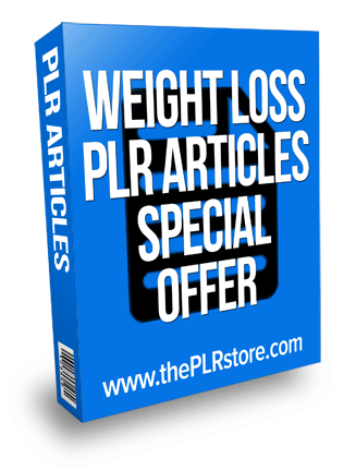 weight loss plr articles wso special offer