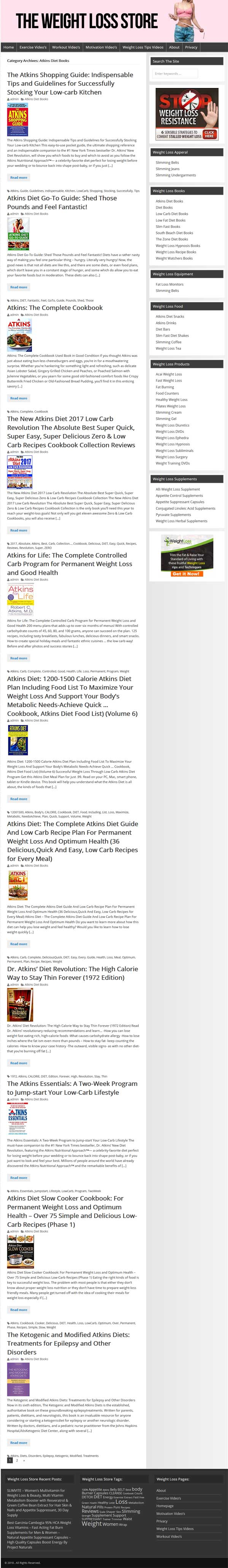 Weight Loss PLR Turnkey Amazon Store Website
