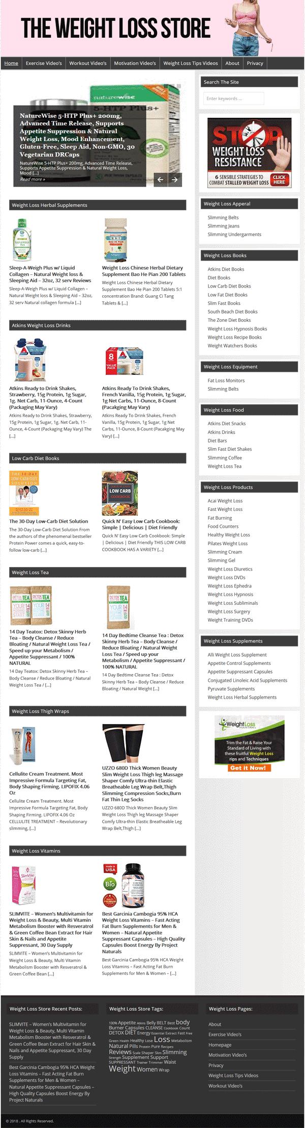 Alli Diet Pill Amazon weight loss plr turnkey amazon store website