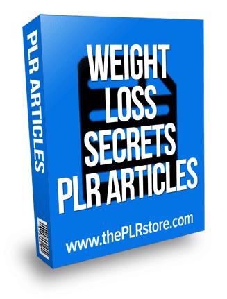 weight loss secrets plr articles