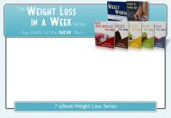 weight loss plr ebook package