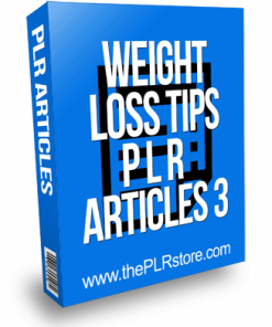 Weight Loss Tips PLR Articles 3