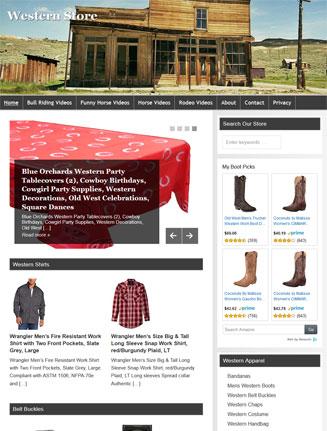 Western PLR Amazon Store Website