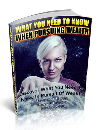 When Pursuing Wealth PLR Ebook