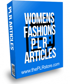 Womens Fashions PLR Articles