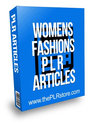 Womens Fashions PLR Articles