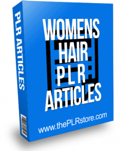 Womens Hair PLR Articles with Private Label Rights