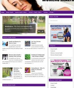 Womens Health PLR Website