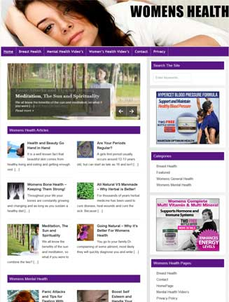 Womens Health PLR Website