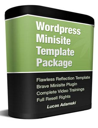 wordpress plr minisite template
