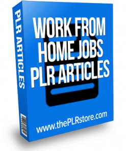 work from home jobs plr articles