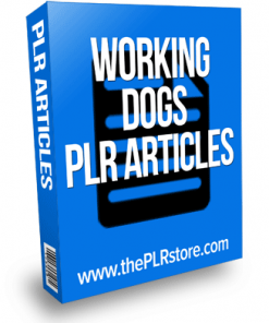working dogs plr articles